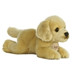 Realistic Stuffed Yellow Lab 8 Inch Plush Dog By Aurora