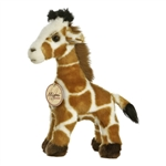 Realistic Stuffed Giraffe 9 Inch Plush Animal By Aurora
