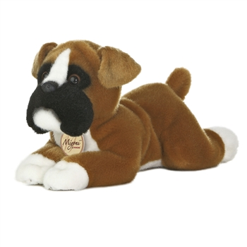 Realistic Stuffed Boxer 11 Inch Plush Dog By Aurora