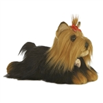 Realistic Stuffed Yorkshire Terrier 11 Inch Plush Dog By Aurora