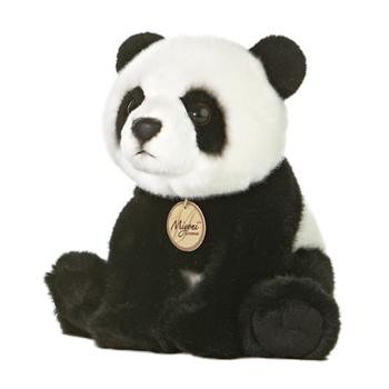 Realistic Stuffed Panda 10 Inch Plush Bear By Aurora