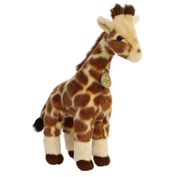 Realistic Stuffed Giraffe 12 Inch Plush Animal By Aurora
