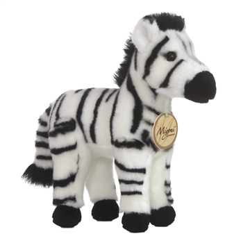 Realistic Stuffed Zebra 11 Inch Plush Animal By Aurora