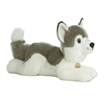 Realistic Stuffed Husky 16 Inch Plush Dog By Aurora