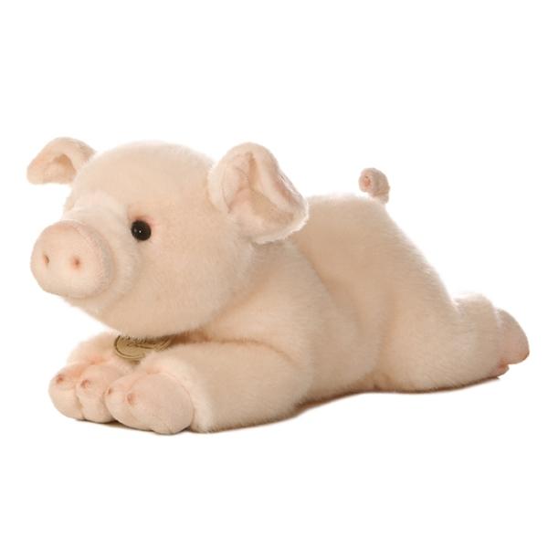 realistic stuffed pig 11 inch plush animal by aurora. Black Bedroom Furniture Sets. Home Design Ideas