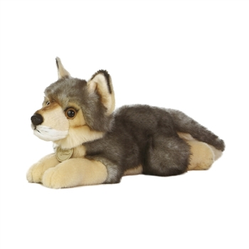 Realistic Stuffed Wolf 11 Inch Plush Animal by Aurora