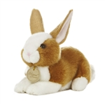 Realistic Stuffed Brown Bunny 8 Inch Plush Animal by Aurora