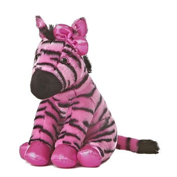 Girlz Nation Pink Stuffed Zebra by Aurora