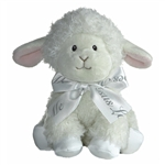 Blessing the Baby Safe Plush Lamb with Jesus Loves Me Bow by Aurora