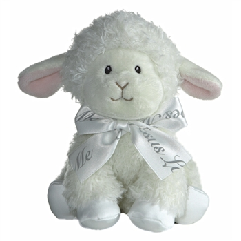 Jesus Loves Me Stuffed Blessings Lamb 8 Inch Plush By Aurora