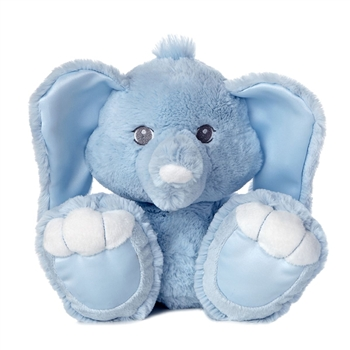 Taddi the 10 Inch Taddle Toes Blue Baby Safe Plush Elephant by Aurora