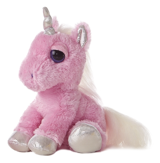 heavenly the dreamy eyes stuffed pink unicorn by aurora. Black Bedroom Furniture Sets. Home Design Ideas