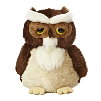 Smitty the Dreamy Eyes Great Horned Owl Stuffed Animal by Aurora