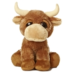 Ranger the Dreamy Eyes Bull Stuffed Animal by Aurora