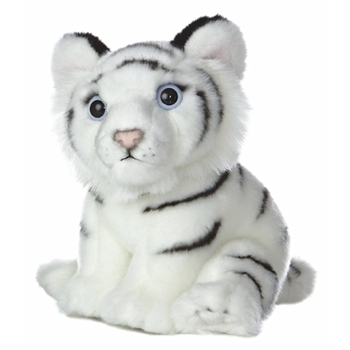 Realistic Stuffed White Tiger Cub 10 Inch Plush Animal by Aurora