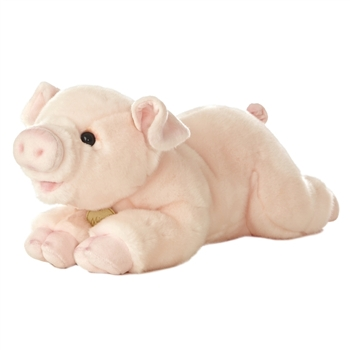 Realistic Stuffed Pig 16 Inch Plush Animal by Aurora