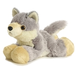Woolsey the Stuffed Wolf by Aurora