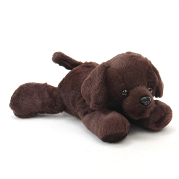 Lil Lucky the Stuffed Chocolate Labrador Retriever by Aurora