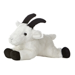 Little Rocky the Stuffed Mountain Goat Mini Flopsie by Aurora