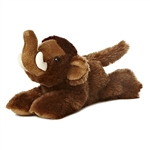 Little Sam the Stuffed Wooly Mammoth Mini Flopsie by Aurora