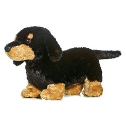 Sausage Too The Plush Black And Tan Dachshund 12 Inch Flopsie Stuffed Dog By Aurora
