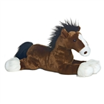 Captain The Stuffed Clydesdale 12 Inch Lying Plush Horse By Aurora