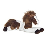 Tola The Stuffed 12 Inch Plush Laying Paint Horse By Aurora