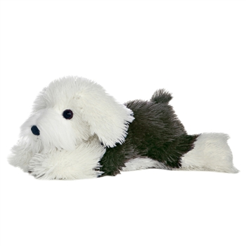 Edwin the Stuffed English Sheepdog Flopsie Plush Dog By Aurora
