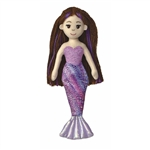 Merissa the Small Purple Mermaid Stuffed Animal by Aurora