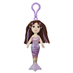 Marissa the Sea Sparkles Plush Purple Mermaid with Clip by Aurora