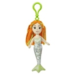 Mariel the Sea Sparkles Plush Green Mermaid with Clip by Aurora
