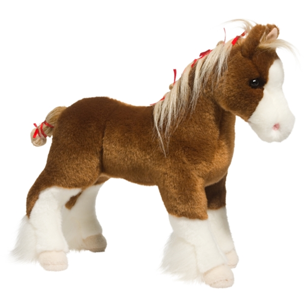 Stuffed Horse Toy : Samson the standing stuffed clydesdale by douglas