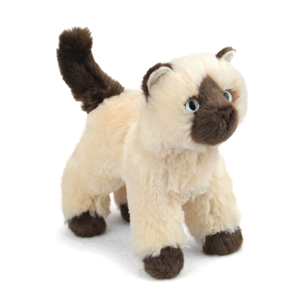 Plush Cat With Green Eyes
