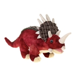 Large Stuffed Red Triceratops 14 Inch Plush Dinosaur by Fiesta