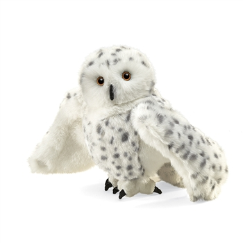 Full Body Snowy Owl Puppet by Folkmanis Puppets