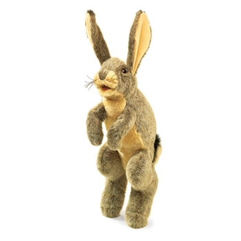 Full Body Jack Rabbit Puppet by Folkmanis Puppets