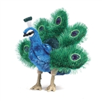 Full Body Small Peacock Puppet by Folkmanis Puppets