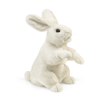 Full Body White Bunny Puppet by Folkmanis Puppets