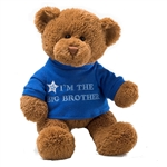 I'm the Big Brother Teddy Bear with Embroidered Blue Shirt by Gund