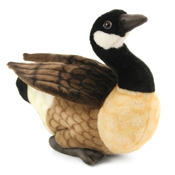 Handcrafted 12 Inch Lifelike Canadian Goose Stuffed Animal by Hansa