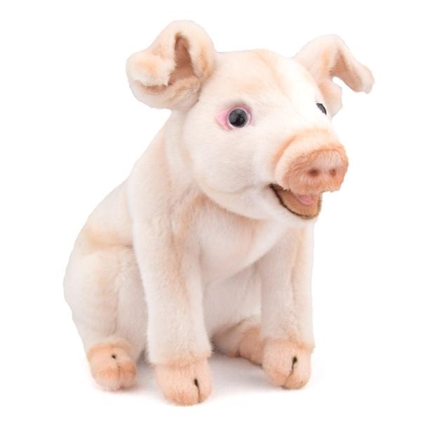 handcrafted 8 inch lifelike pig stuffed animal by hansa. Black Bedroom Furniture Sets. Home Design Ideas