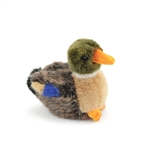 Handcrafted 4 Inch Lifelike Baby Mallard Duck Stuffed Animal by Hansa