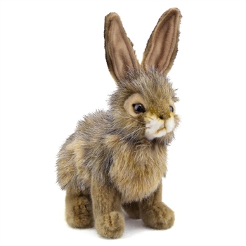 Handcrafted 9 Inch Lifelike Rabbit Stuffed Animal by Hansa