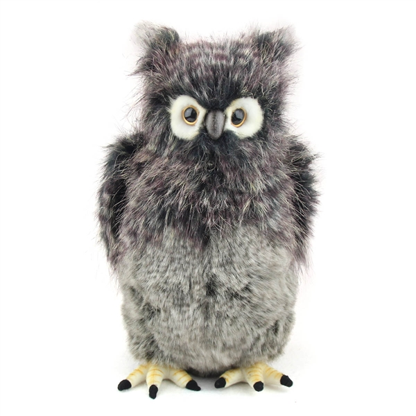 Handcrafted 14 Inch Lifelike Great Grey Owl Stuffed Animal