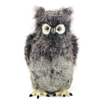 Handcrafted 14 Inch Lifelike Great Grey Owl Stuffed Animal by Hansa