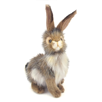 Handcrafted 9 Inch Lifelike Stuffed Black-tailed Jack Rabbit by Hansa