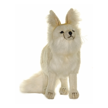 Handcrafted 11 Inch Lifelike Arctic Fox Stuffed Animal by Hansa