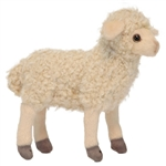 Handcrafted 7 Inch Lifelike Little White Lamb Stuffed Animal by Hansa