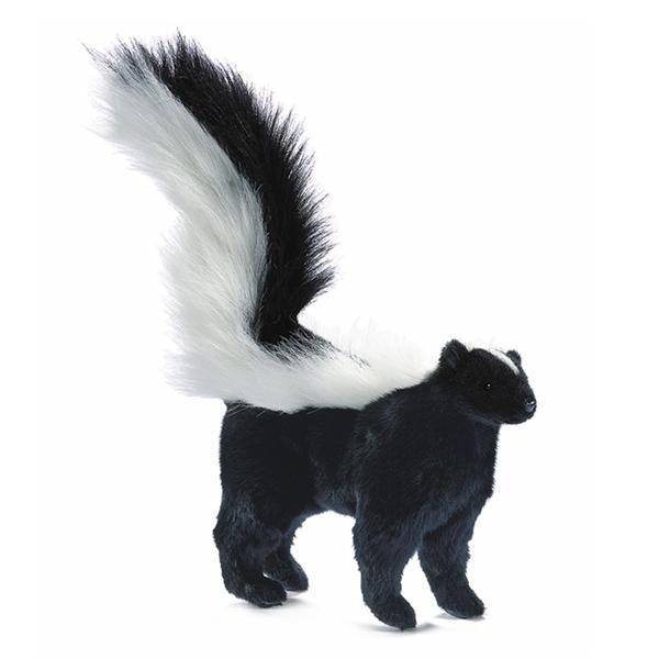 Handcrafted 14 Inch Lifelike Baby Skunk Stuffed Animal By