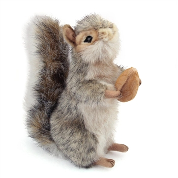 Handcrafted 8 Inch Standing Lifelike Stuffed Gray Squirrel by Hansa